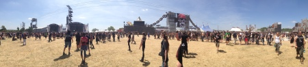 Compact site means little walking between stages,